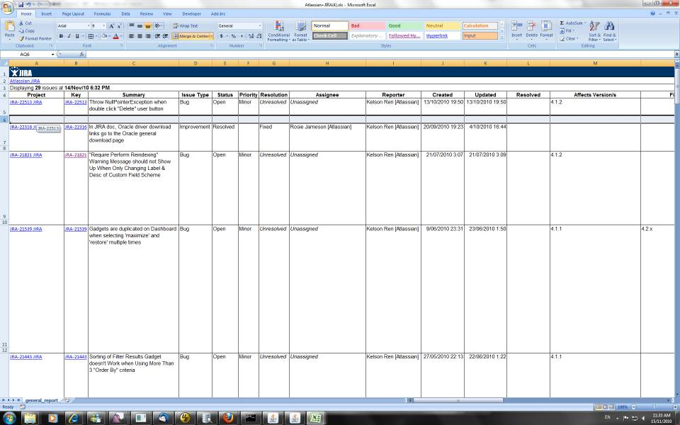Project Issue Tracking Template Excel