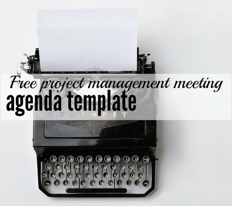 Project Management Agenda Template