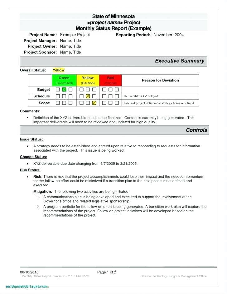 Project Management Charter Template Sample