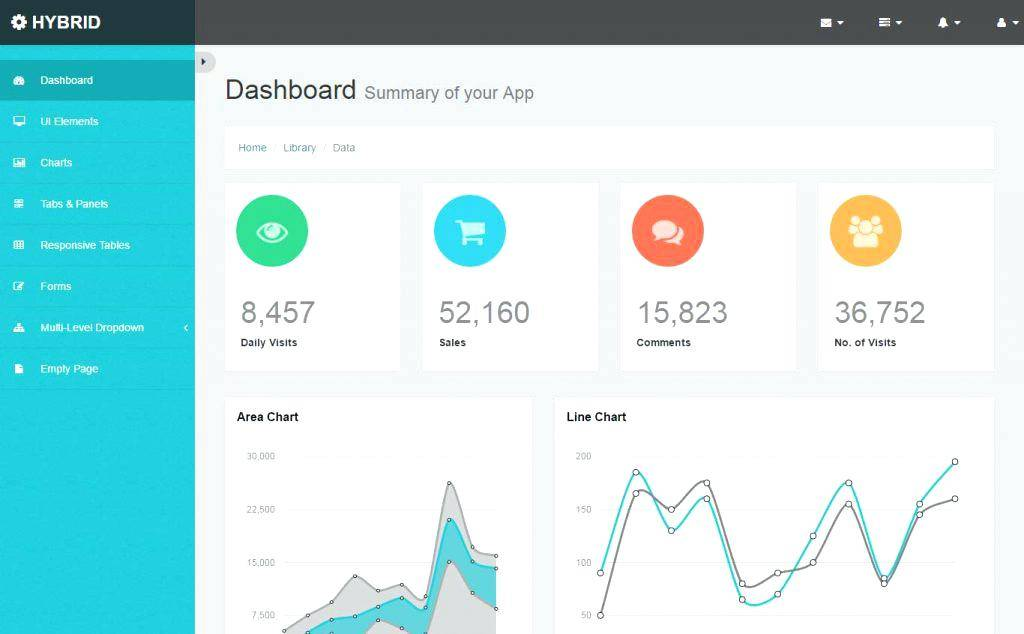 Project Management Dashboard Template Bootstrap