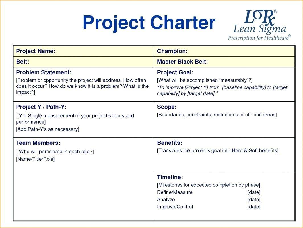 Project Management Team Charter Example