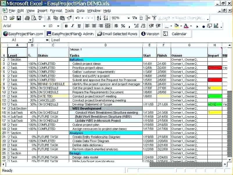 Project Management Template Excel 2013