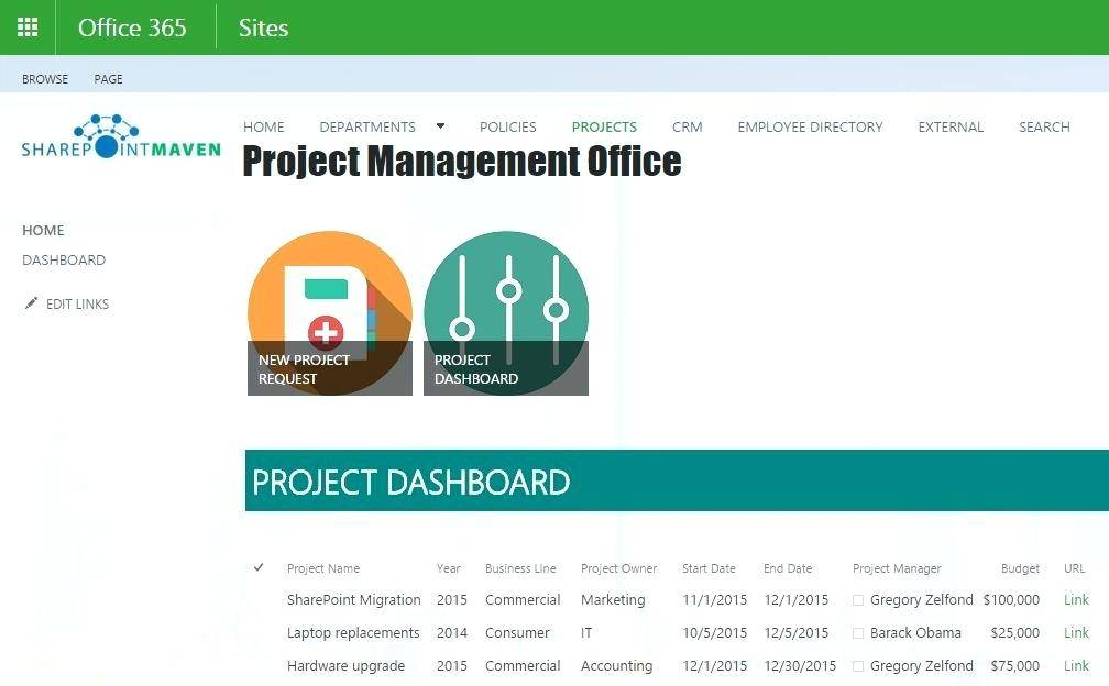 Project Management Template Sharepoint 2010