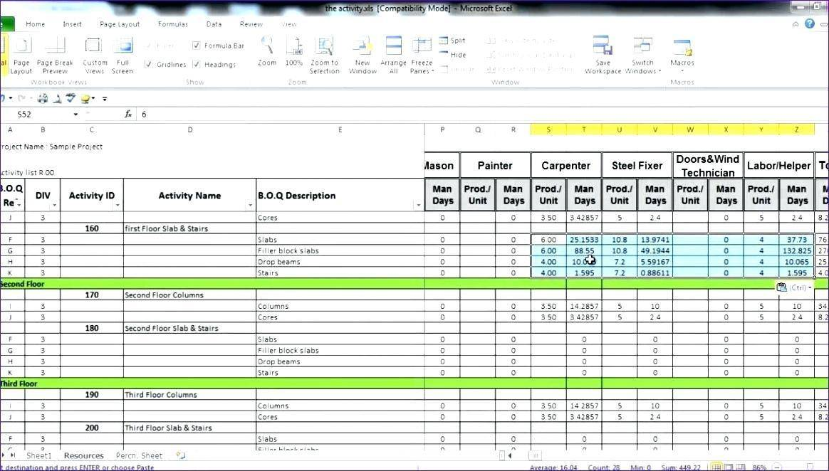 Project Manpower Planning Template