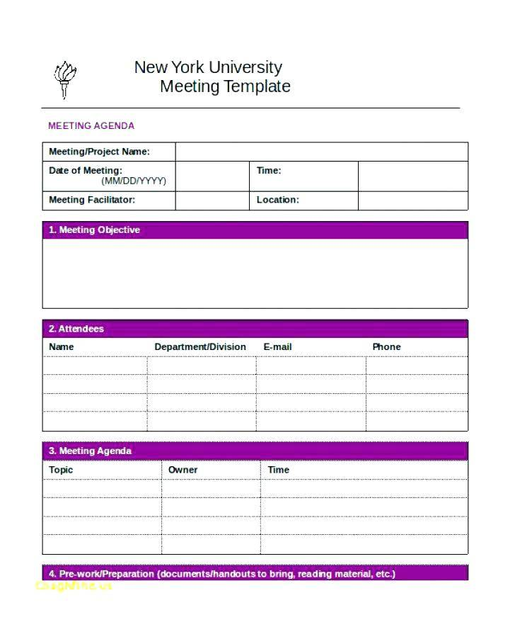 Project Meeting Minutes Template Doc