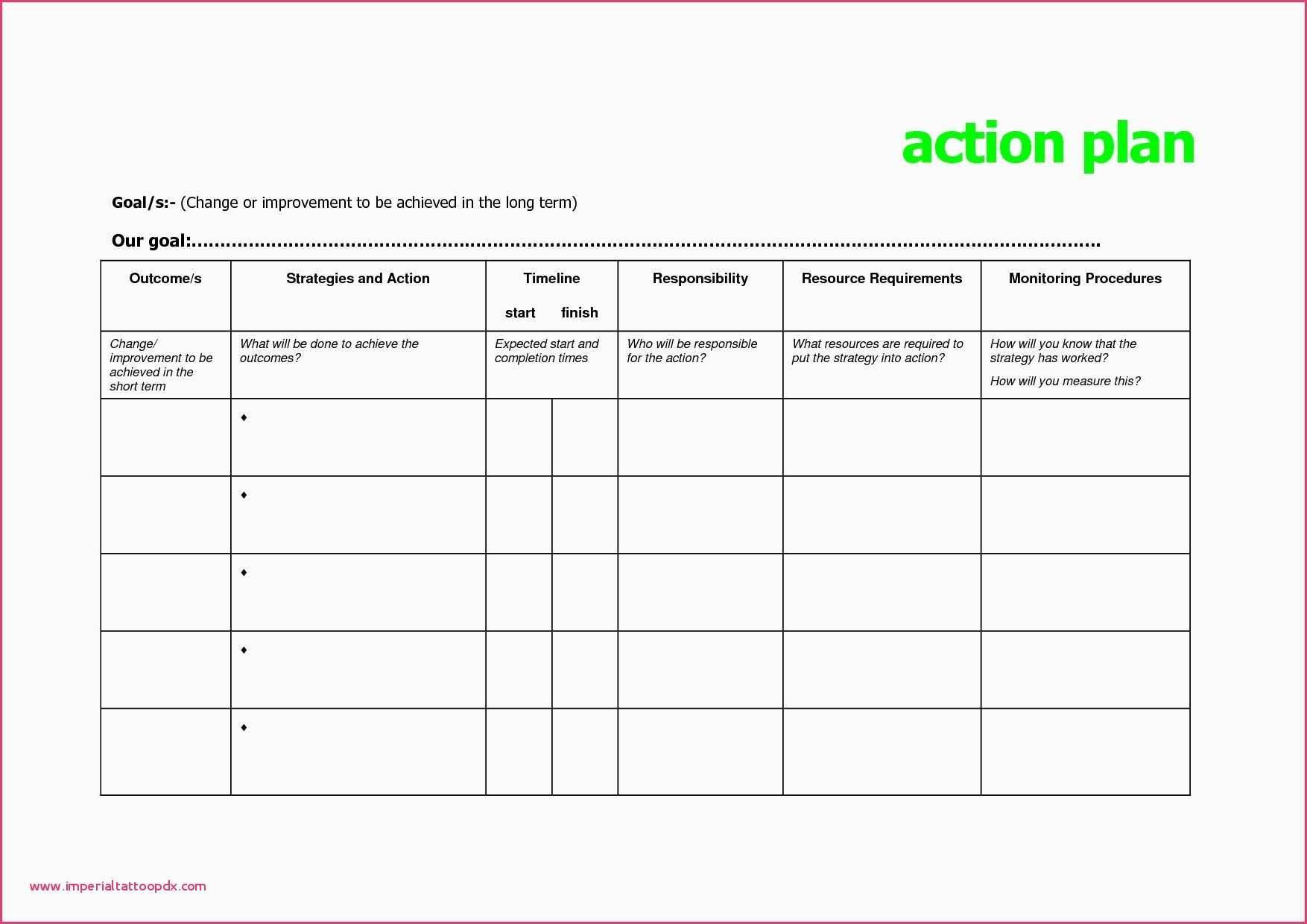 Project Plan Sample Xls