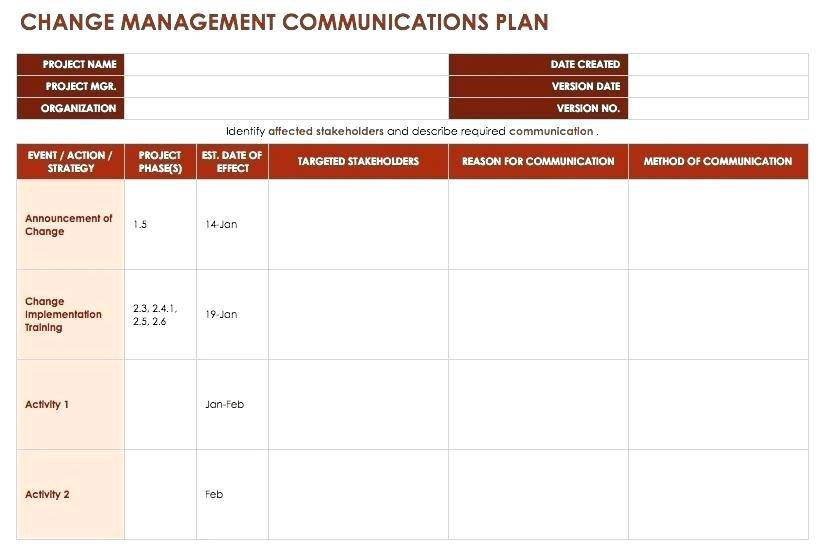 Project Rollout Plan Template