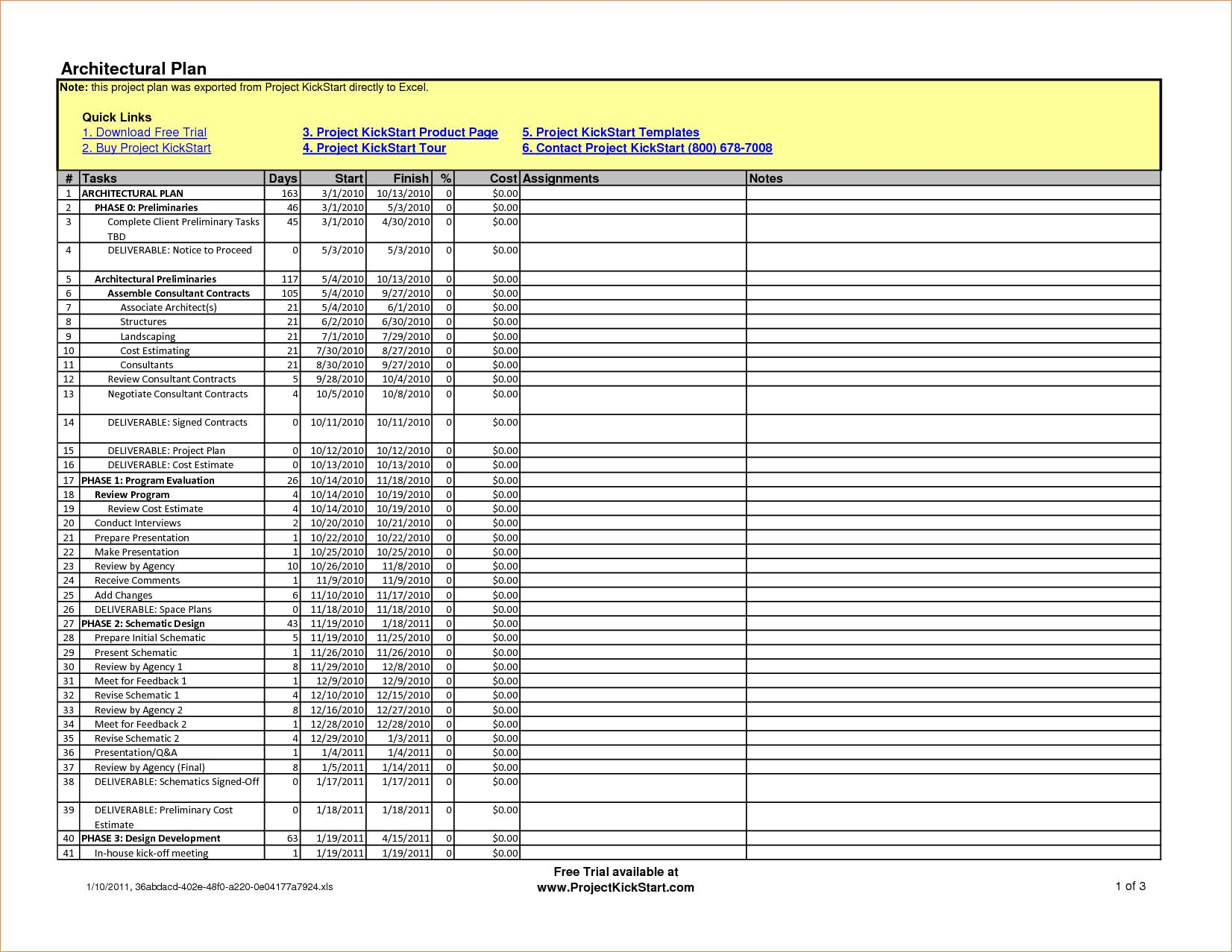 Project Schedule Template Excel 2013
