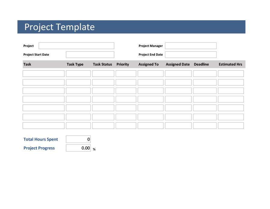 Project Tracking Template Word