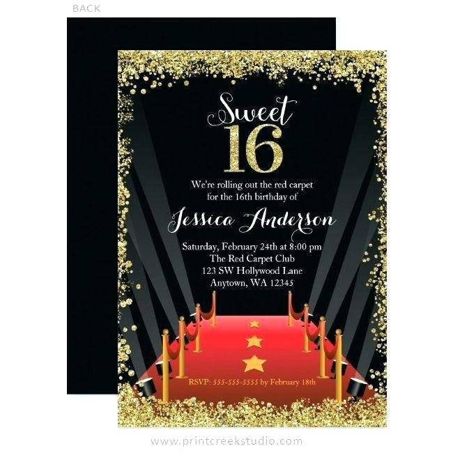 Prom Party Invitation Templates Free