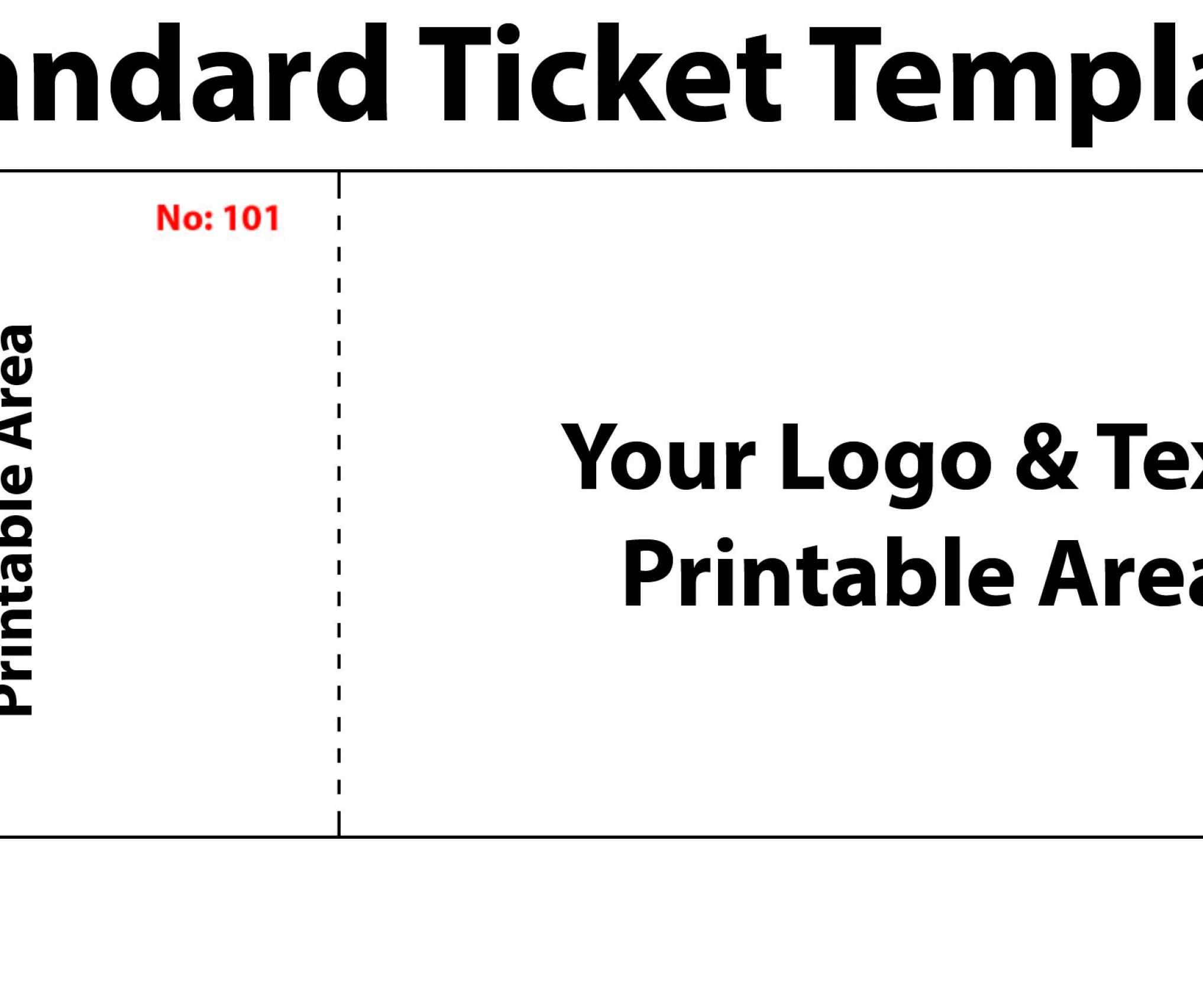 Prom Ticket Templates