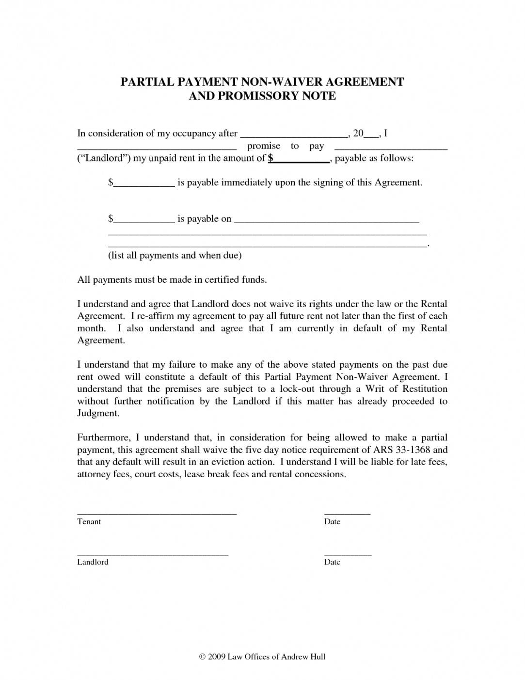 Promise To Pay Contract Template