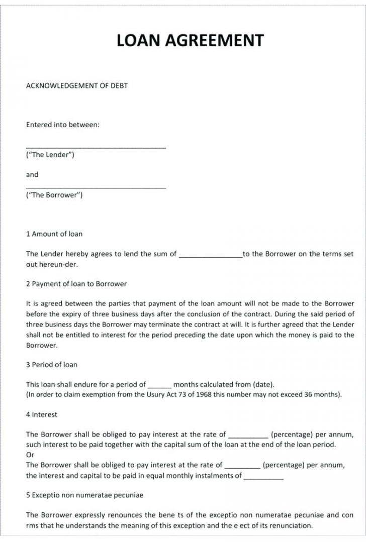 Promissory Note Form Microsoft Word