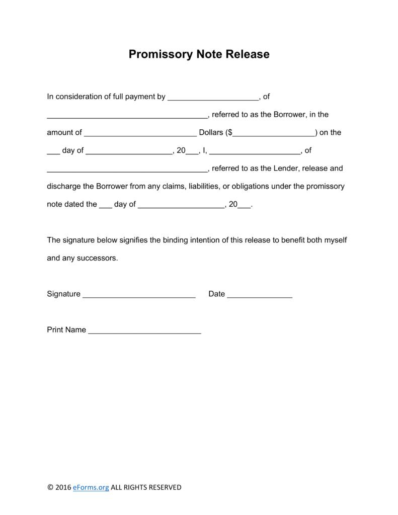 Promissory Note Loan Template