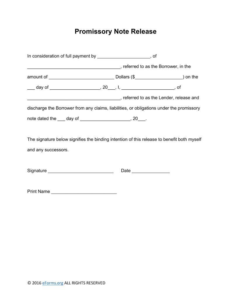 Promissory Note Loan Template