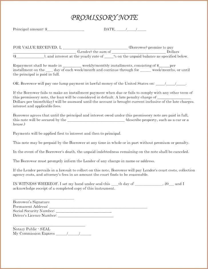 Promissory Note Security Agreement Template