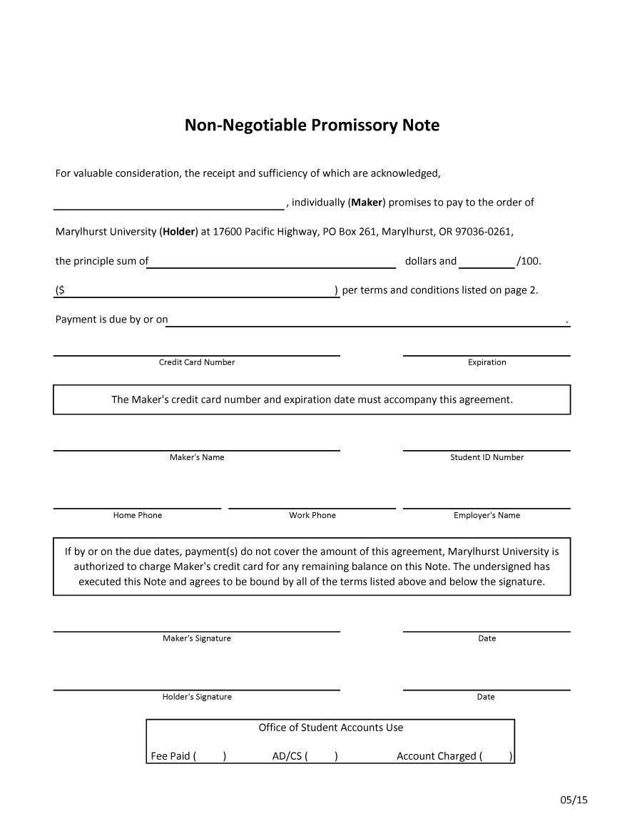 Promissory Note Template Michigan