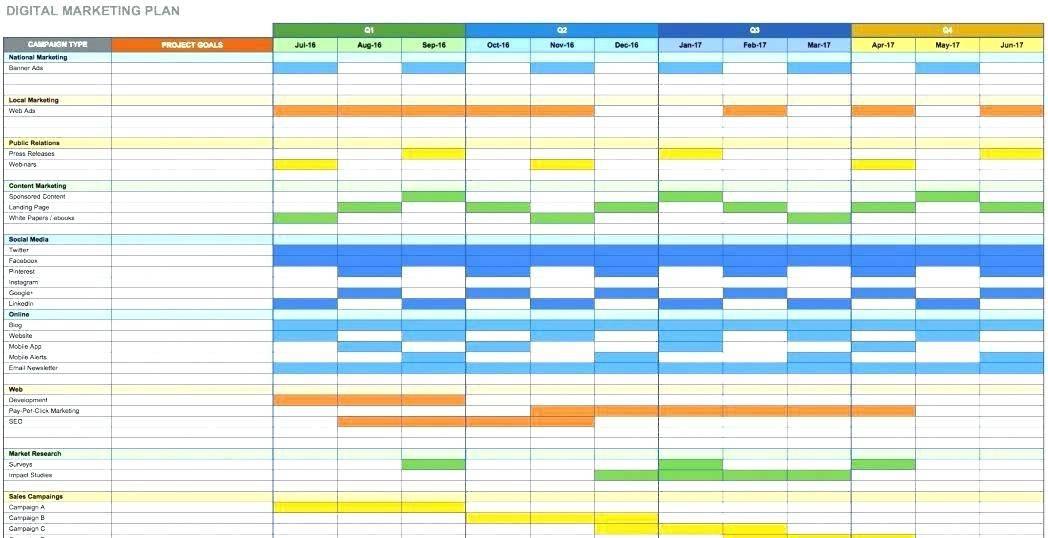 Promotional Calendar Template Excel