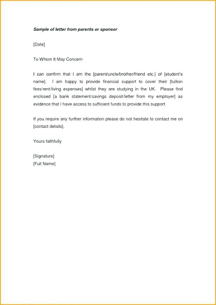 Proof Of Donation Letter Template