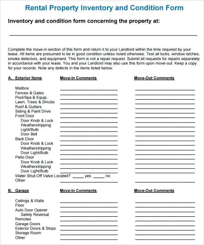 Property Condition Report Template Free
