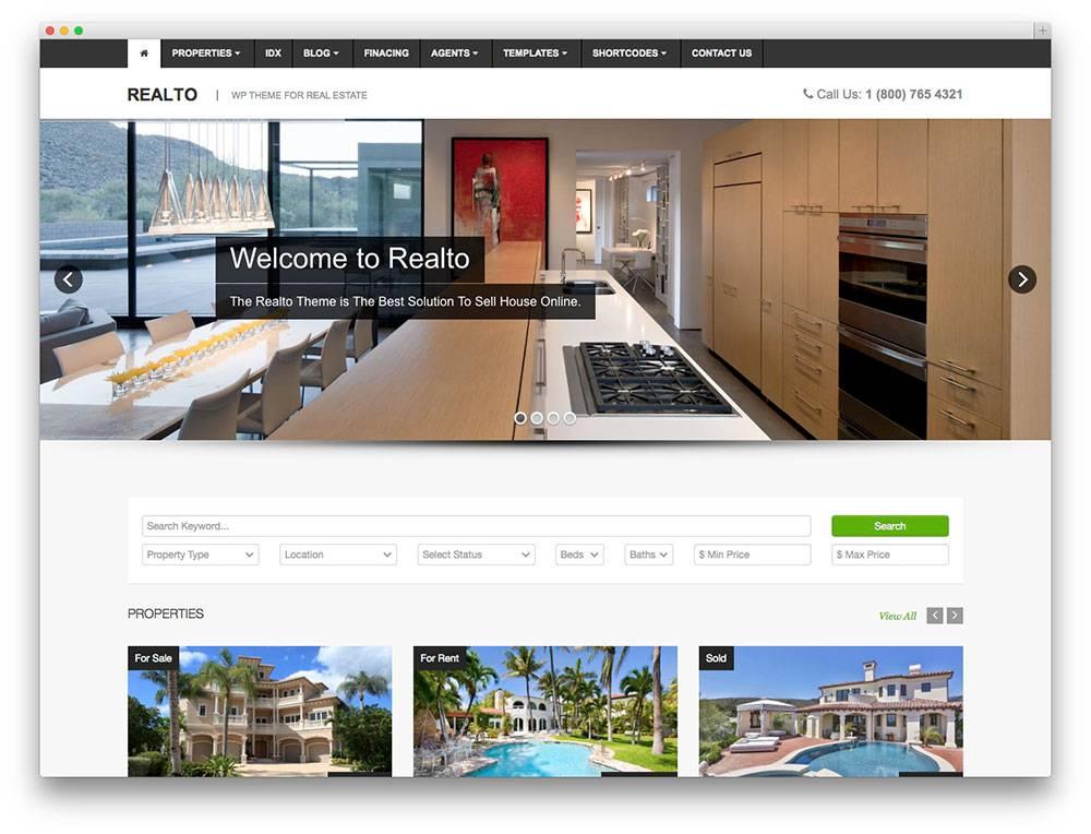 Property Dealing Websites Templates