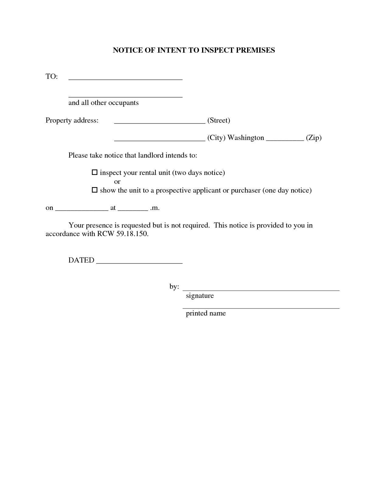 Property Inspection Letter Template