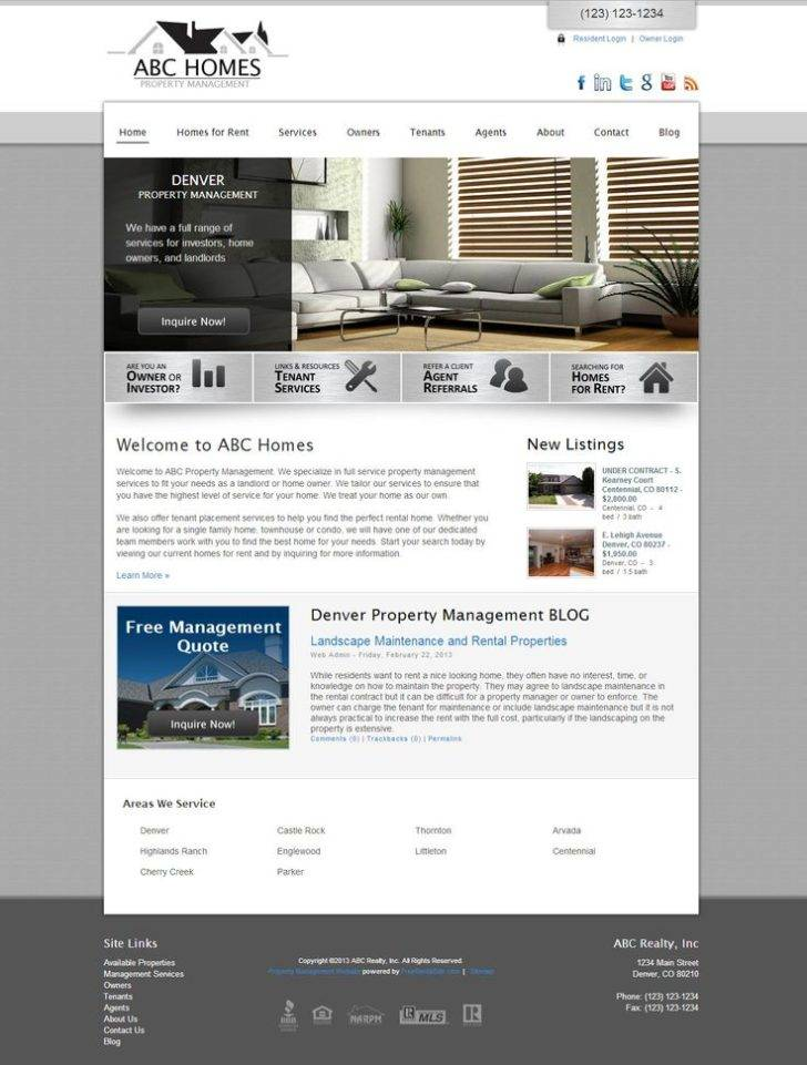Property Management Website Templates Free Download