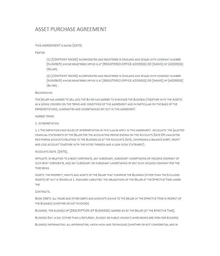 Property Sale Agreement Template Uk