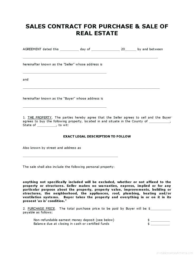 Property Sales Contract Template