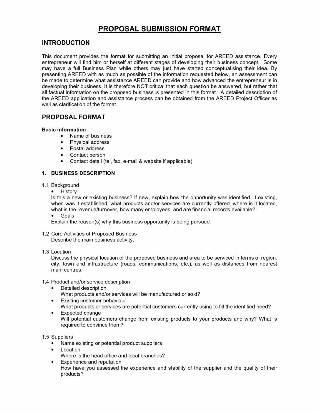 Proposal Formats Templates