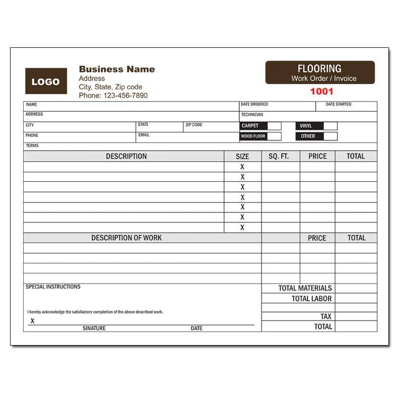 Proposal Invoice Form