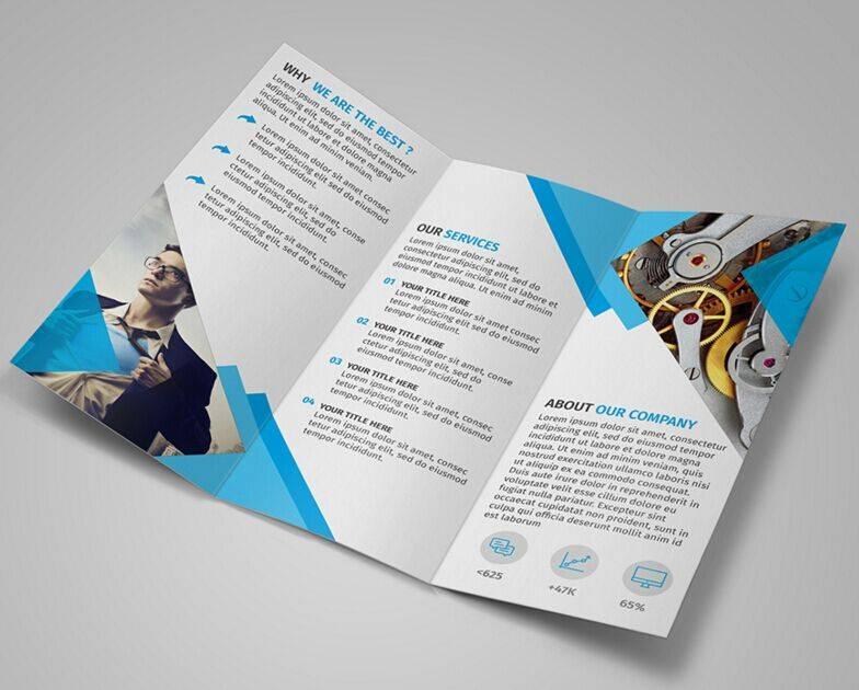 Psd Template For Tri Fold Brochure