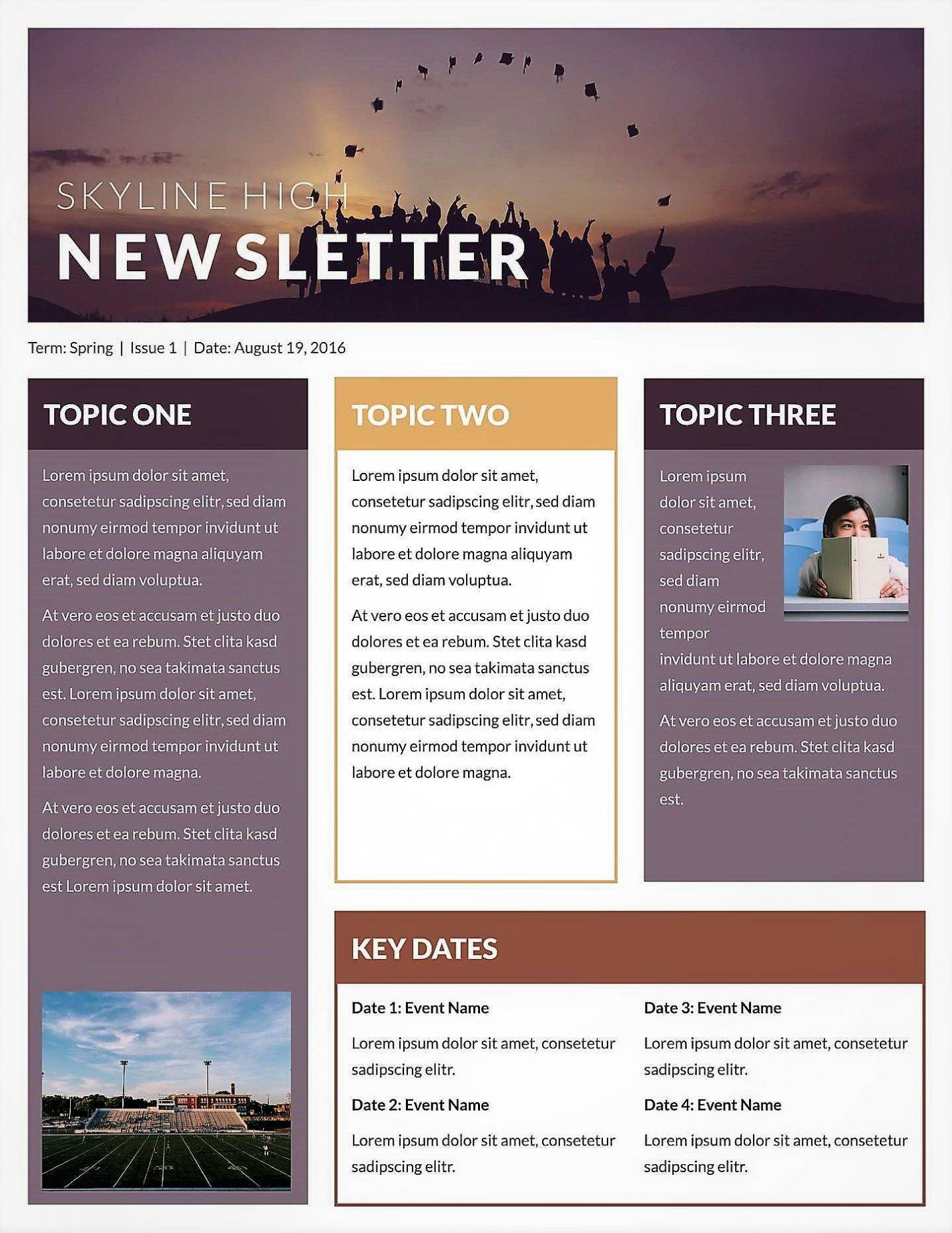 Publisher 2016 Newsletter Templates