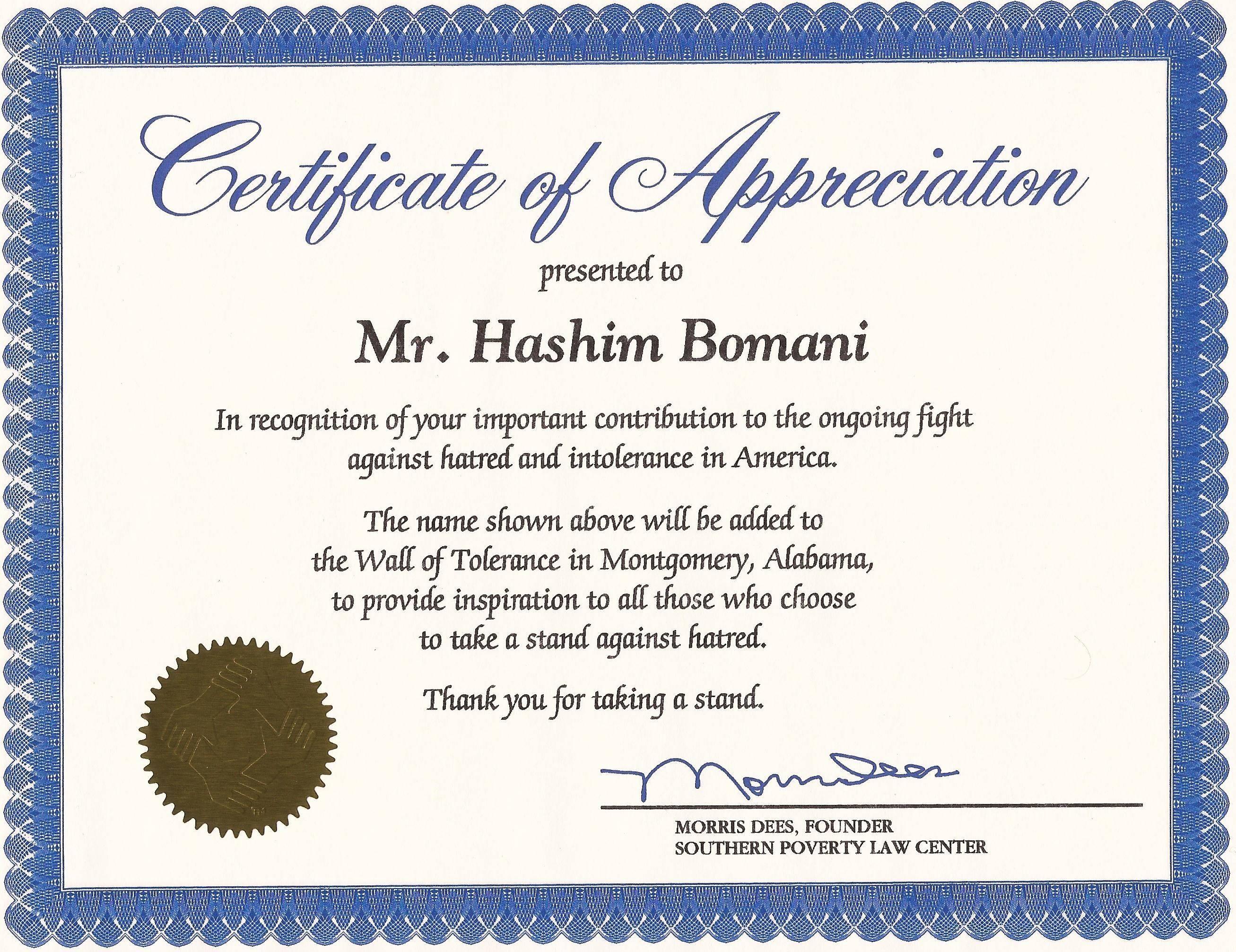 Publisher Template Certificate Of Appreciation