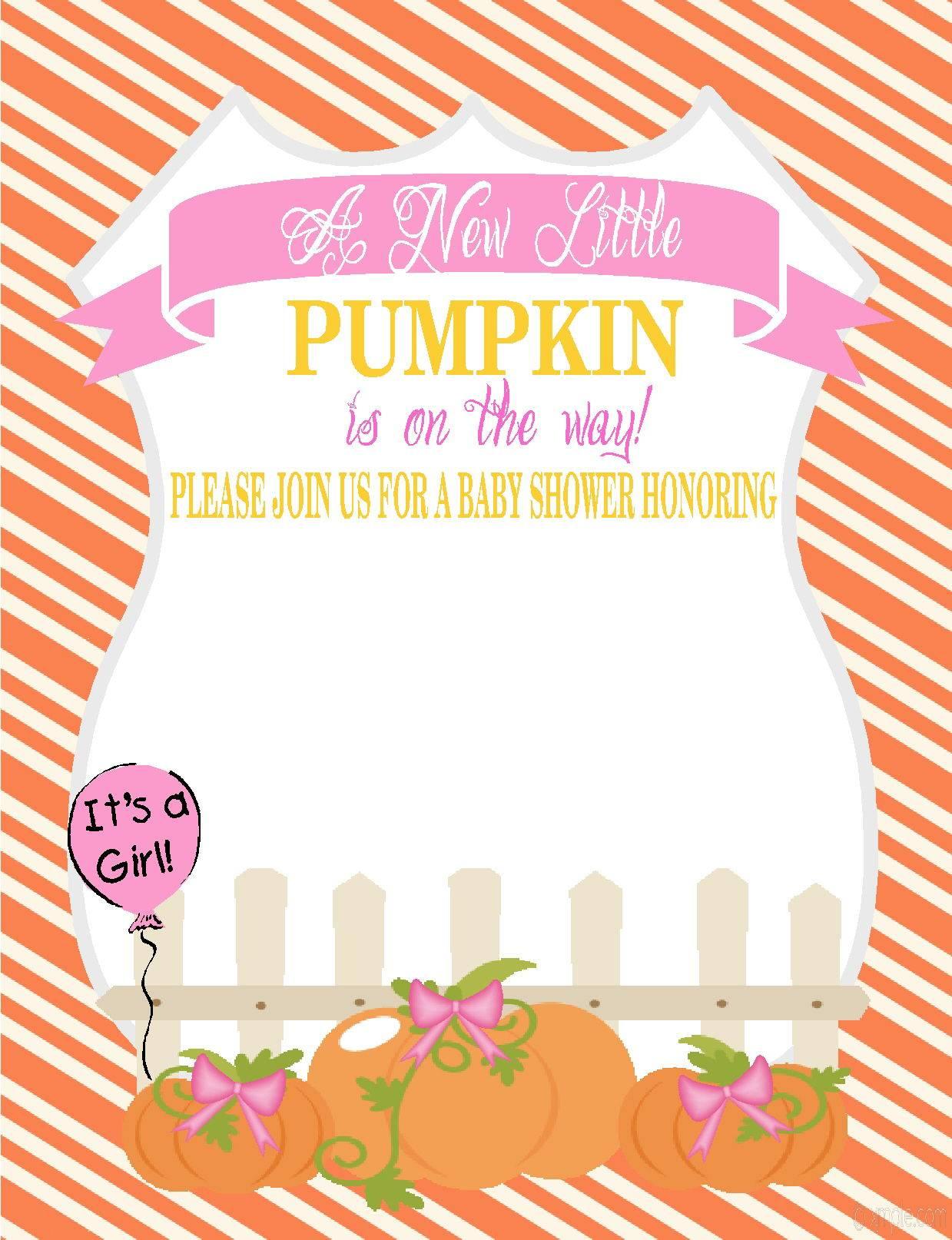 Pumpkin Invitation Template