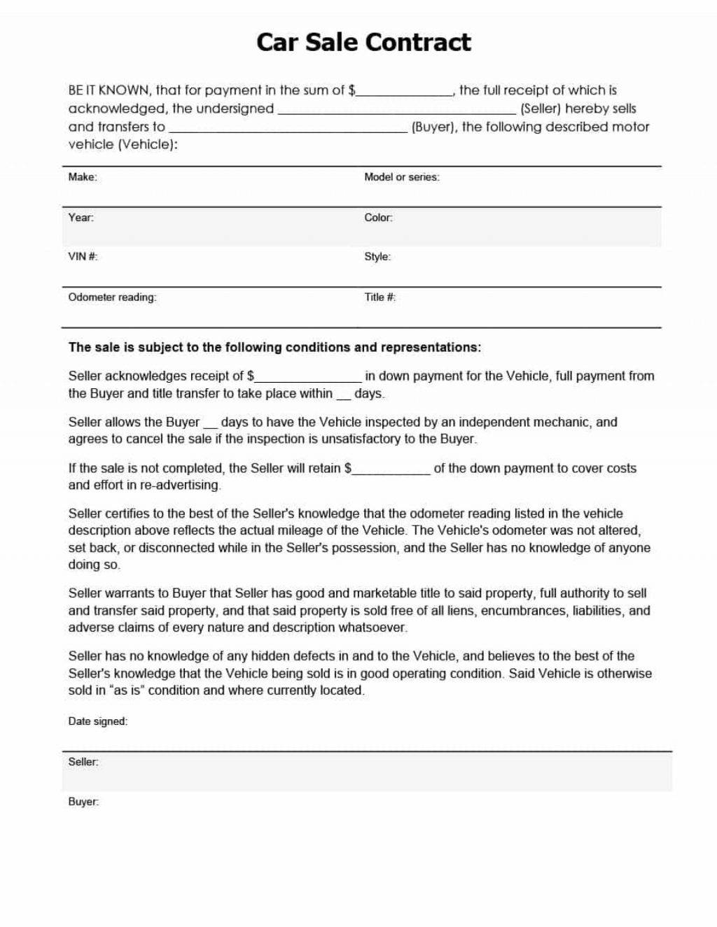 Purchase And Sale Agreement Template Maine