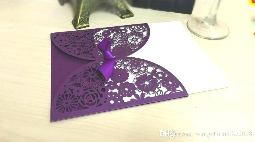Purple Butterfly Invitation Templates
