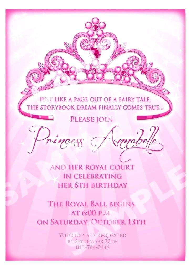 Purple Princess Baby Shower Invitation Template