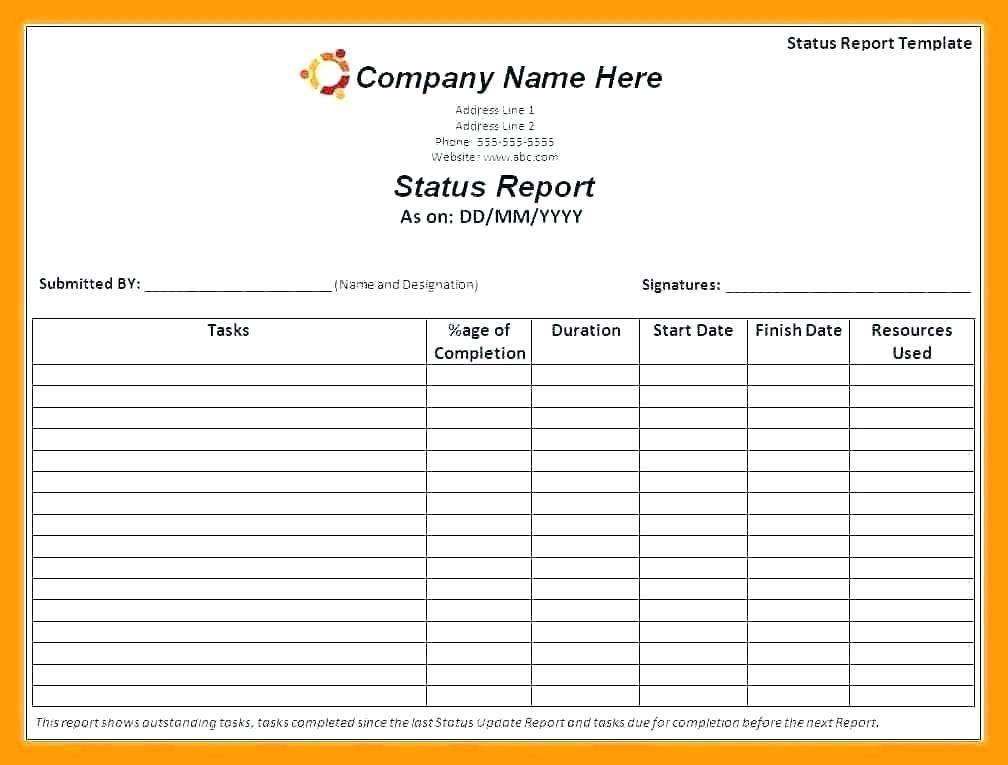 Qa Testing Status Report Template