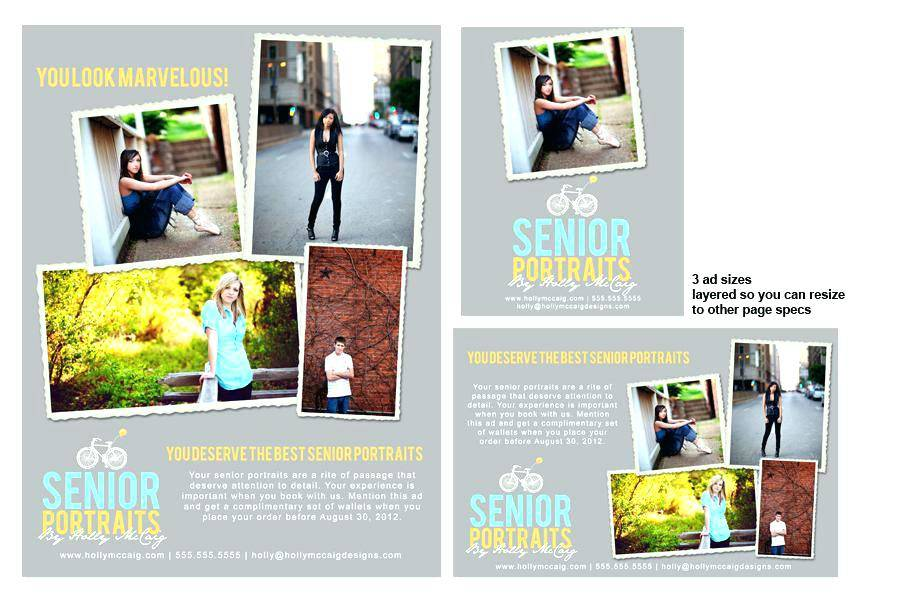Quarter Page Yearbook Ad Template