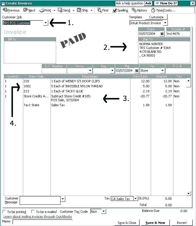 Quickbooks Item Import Template