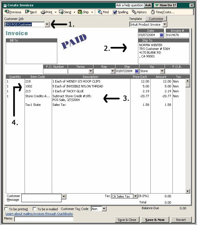 Quickbooks Mac Invoice Templates