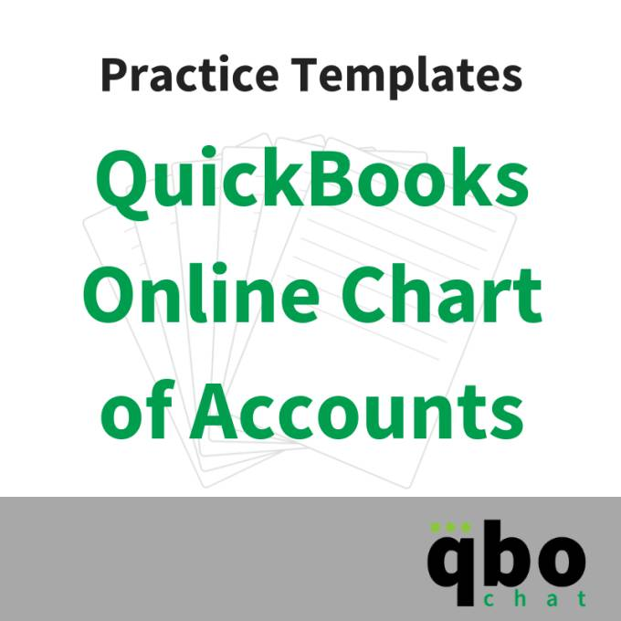 Quickbooks Online Chart Of Accounts Templates