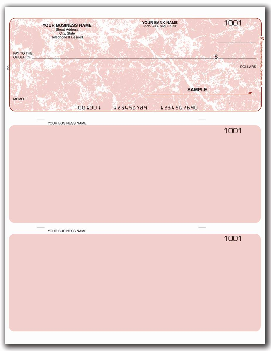 Quickbooks Payroll Check Template