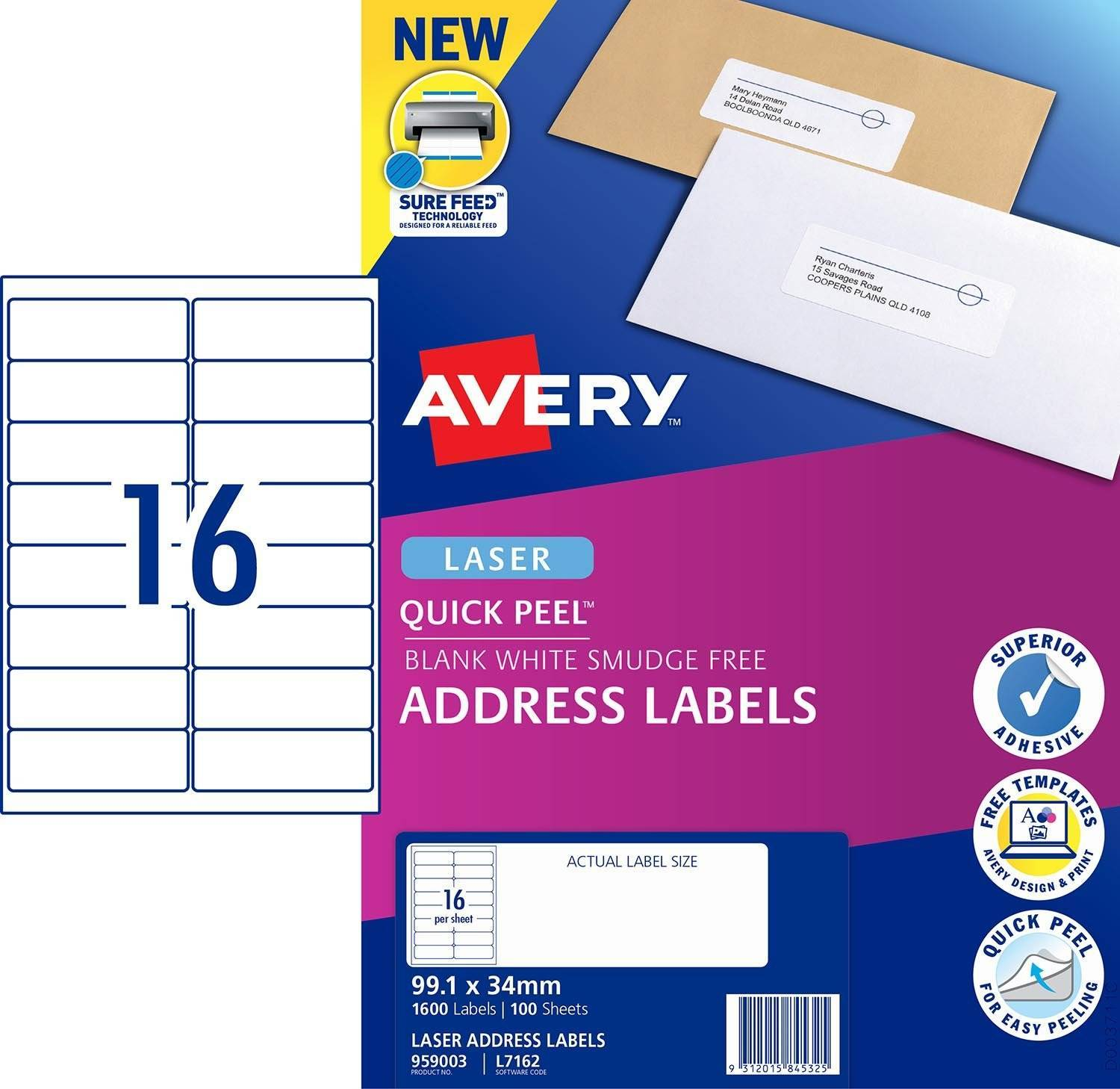 Quickpeel Laser Labels Template
