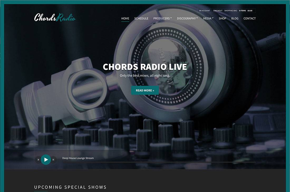 Radio Station Website Template WordPress