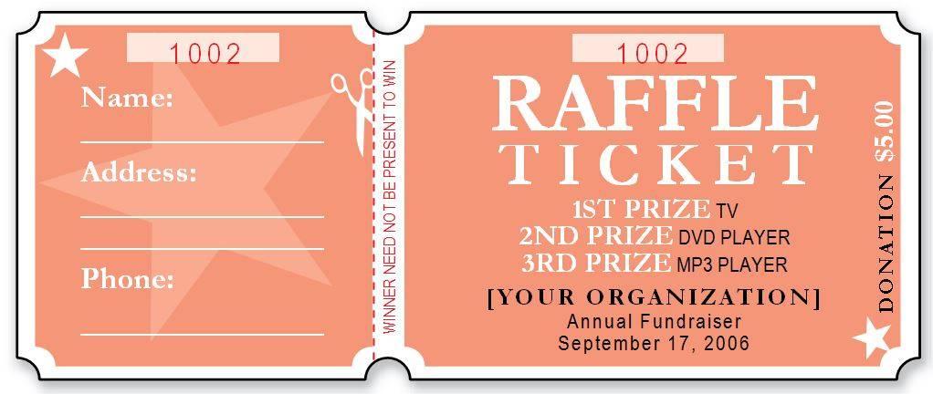 Raffle Ticket Flyer Template Word