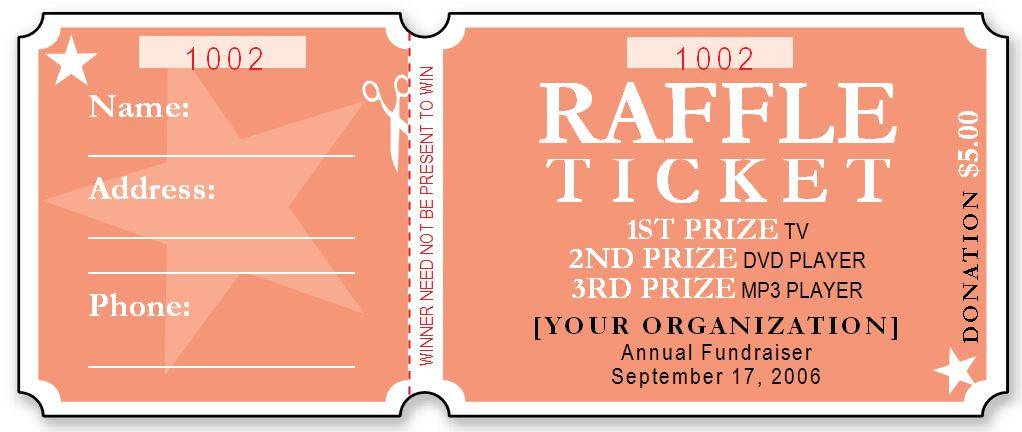 Raffle Ticket Flyer Templates