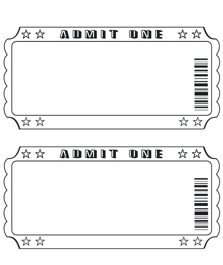 Raffle Ticket Stub Template