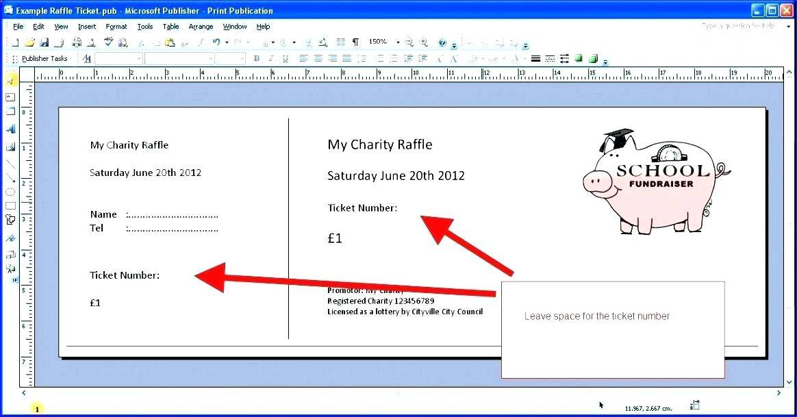 Raffle Tickets Template Publisher